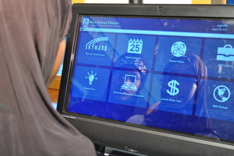 Kent School District's new kiosks are bringing the SIS and free wi-fi to the community